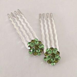 Green Hairpins (10-Pairs)